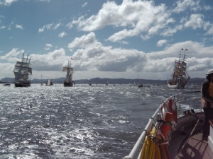 Sailing south with Europa, Lord Nelson and Oosterschelde