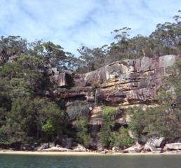 Waterfall Refuge Bay Kuring Gai Chase NP