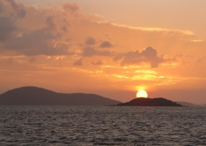 Sunset from Cape York (c) Trish Ebert.